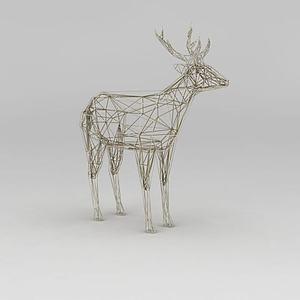 圣誕節裝飾鹿3d模型