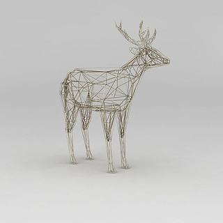 <font class='myIsRed'>圣诞</font>节装饰鹿3d模型