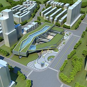 城市公共建筑模型3d模型