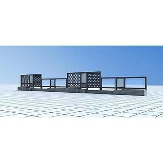 雕花镂空景墙3d模型