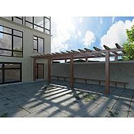 别墅木质廊架3D模型3d模型