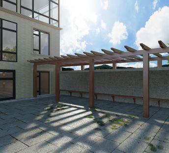 别墅木质廊架
