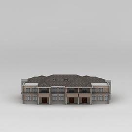 欧式连排双层别墅3d模型