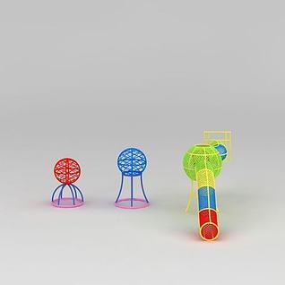 淘气堡儿童爬网筒3d模型3d模型