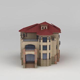 多层时尚别墅3d模型3d模型