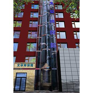室外景观电梯3d模型3d模型