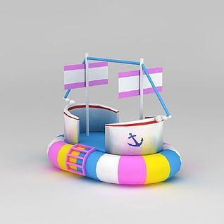 儿童充气海盗船3d模型