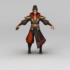 王者荣耀人物角色男模型3d模型