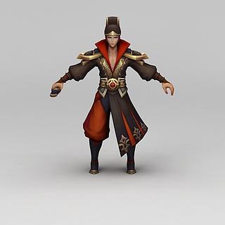 王者荣耀人物角色男3d模型
