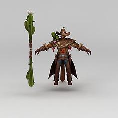 王者荣耀角色牛仔3D模型3d模型