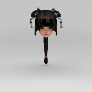 剑网三人物发型3d模型