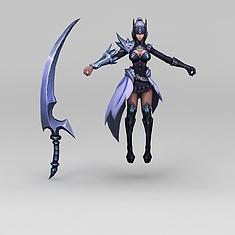 王者荣耀美女战士3D模型3d模型