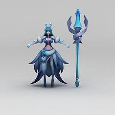 王者荣耀狐仙角色3D模型3d模型