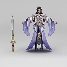 王者荣耀角色美女3D模型3d模型