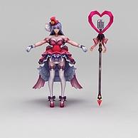 王者荣耀美少女战士3D模型3d模型