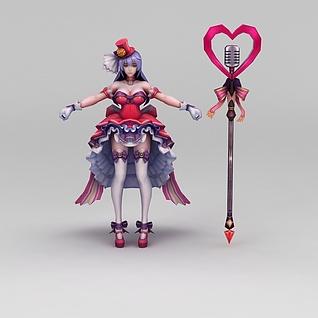 3d王者荣耀美少女战士模型