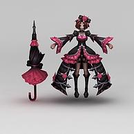 王者荣耀魔仙角色3D模型3d模型