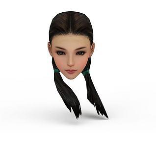 剑网三女发型3d模型