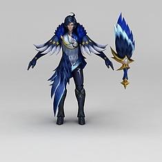 王者荣耀游戏人物战士3D模型3d模型