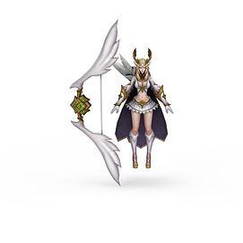 3d<font class='myIsRed'>王者荣耀</font>游戏人物女人模型