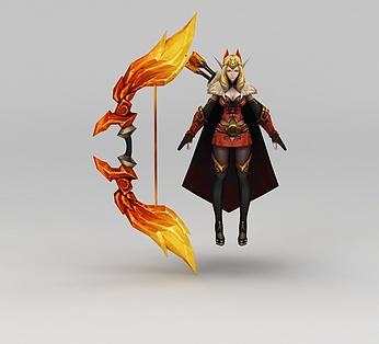 王者荣耀游戏人物女战士