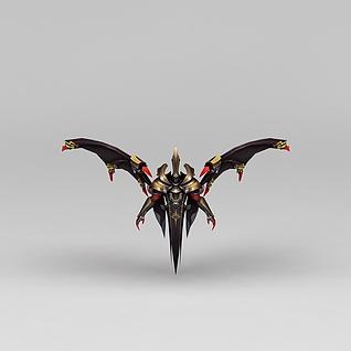 王者荣耀游戏道具装饰3d模型