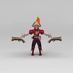 王者荣耀游戏人物男人动漫角色模型3d模型