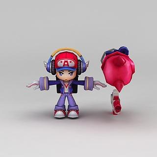 王者荣耀游戏人物娃娃3d模型
