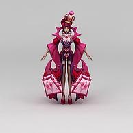 王者荣耀游戏人物女人女王3D模型3d模型