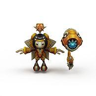 王者荣耀儿童角色3D模型3d模型