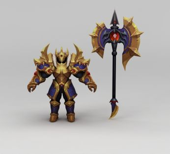 王者荣耀游戏人物动漫角色铠甲战士