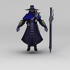 王者荣耀游戏人物动漫角色战士模型3d模型