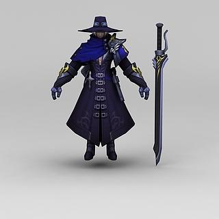 王者荣耀游戏人物动漫角色战士3d模型