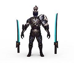 王者荣耀游戏人物动漫角色男人战士模型3d模型
