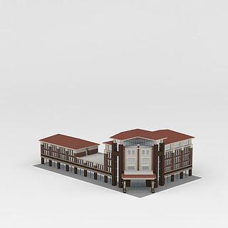 商业办公楼建筑3d模型