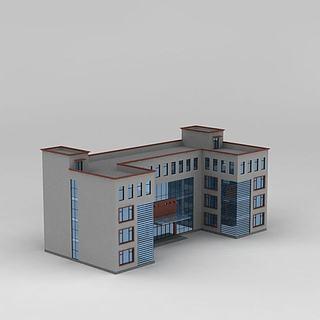 学校建筑3d模型
