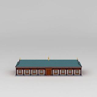 藏式建筑3d模型