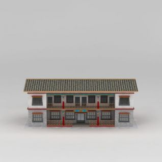 農家樂建筑3d模型