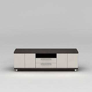 简约边柜电视柜3d模型3d模型