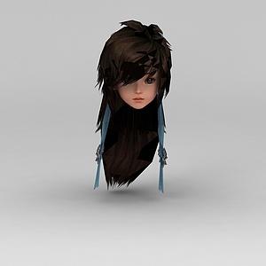 剑网三游戏人物发饰发型模型