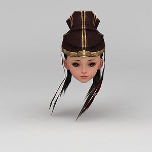 剑网三游戏人物古装发型模型