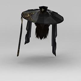 剑网三游戏人物发型古装发饰模型