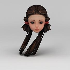 剑网三游戏人物发型发饰女孩发型模型
