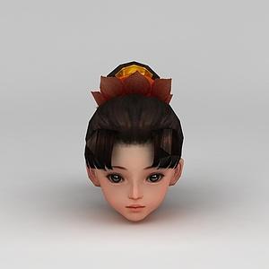 剑网三游戏人物发型发饰模型