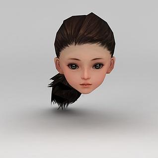 剑网三发女子发型3d模型