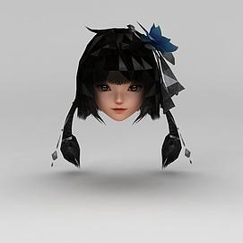 剑网三女子发型配饰模型