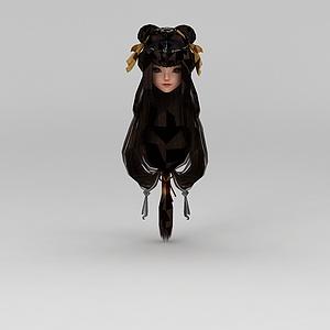 剑网三女子长发模型