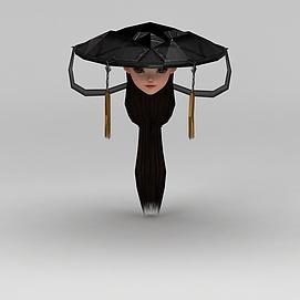剑网三游戏人物古装发饰发型模型