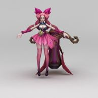王者荣耀游戏人物美少女3D模型3d模型