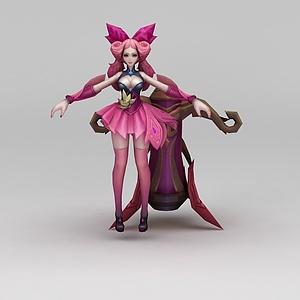 王者榮耀游戲人物美少女模型3d模型